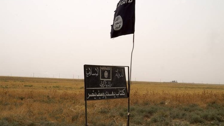 ISIS flag in Iraq.