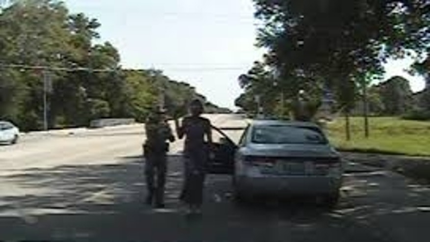 The traffic stop involving Sandra Bland in Waller County, Texas.