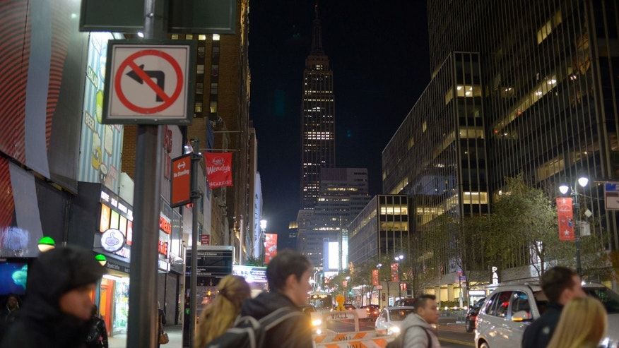 Nov. 14, 2015: The Empire State Building in New York went dark for a second night in sympathy for people of Paris.