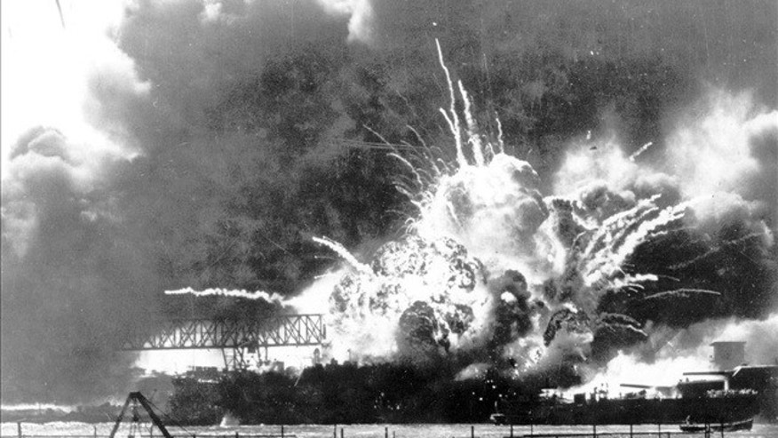 Japan attacked the U.S. twice in the year after Pearl Harbor, pictured here.