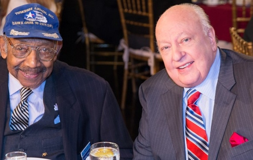 Tuskegee Airman and Civil Rights Activist Dabney Montgomery and FOX News Chairman & CEO Roger Ailes