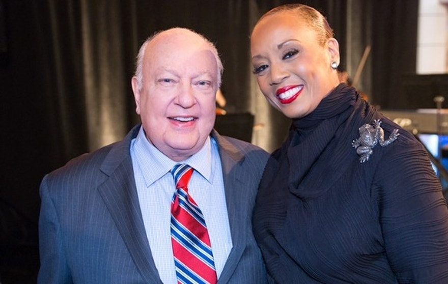 FOX News Chairman & CEO Roger Ailes and Santita Jackson (FNC contributor & daughter of Revered Jesse Jackson)