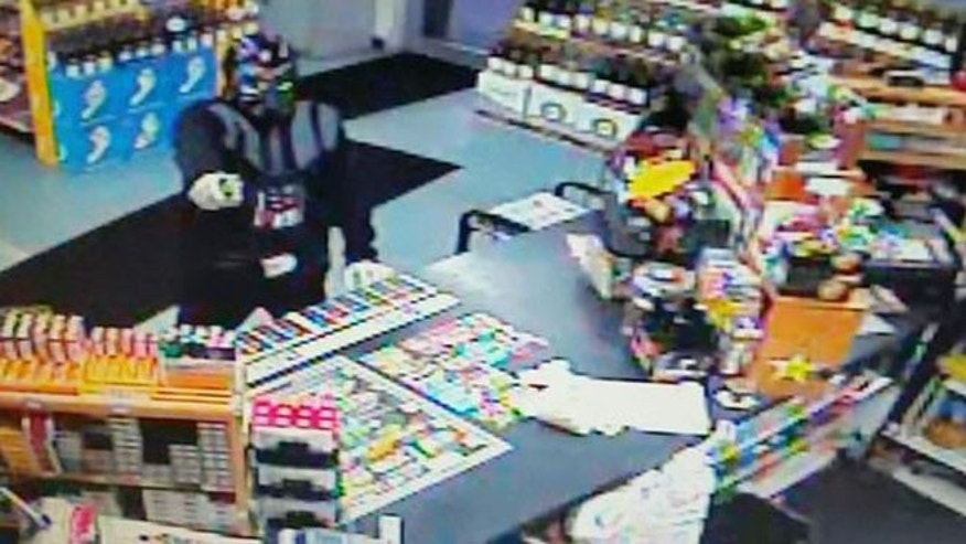 A Florida store's surveillance camera captured an attempted robbery by a man in a Darth Vader outfit.