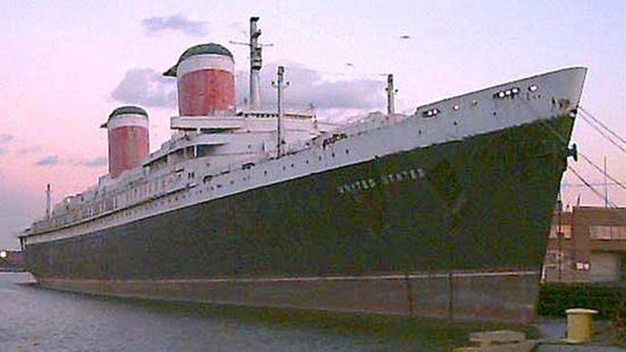 The SS United States, pictured here in 2001, sailed its maiden voyage from New York to the United Kingdom in 1952.