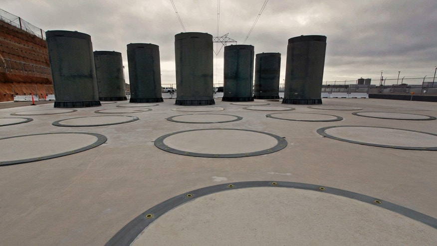 Nov. 3, 2008: Shows above ground casks designed to store radioactive waste from a nuclear reactor at Pacific Gas and Electric's Diablo Canyon Power Plant in Avila Beach, Calif.