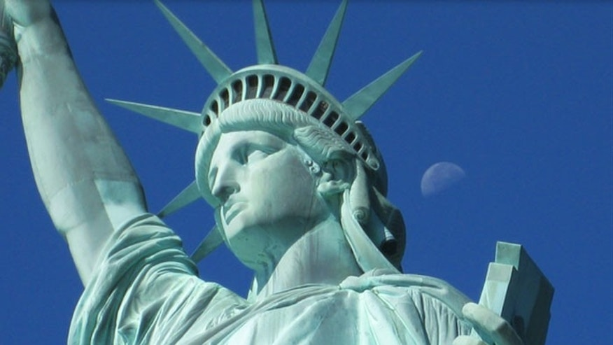 A new theory says the model for Lady Liberty was a veiled Muslim peasant.