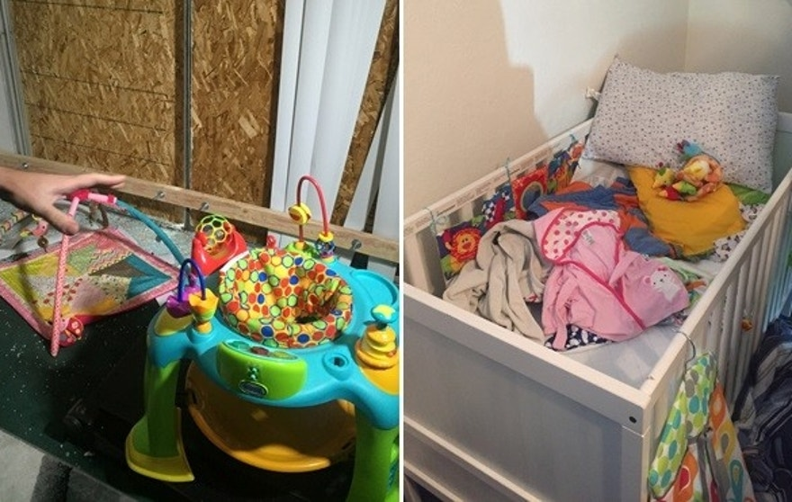 The baby lived in a cramped townhouse with her parents and grandmother until Wednesday's attack. Last week, reporters were allowed in the home and saw signs of the little one's presence.