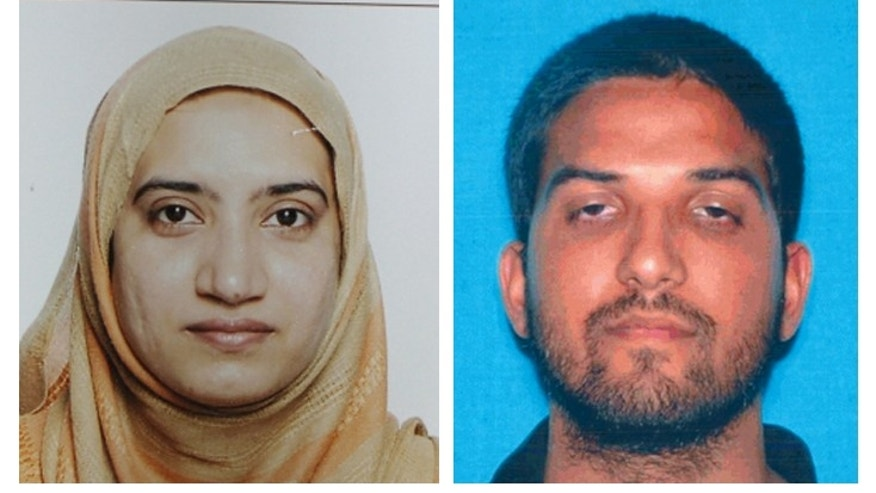 FILE - This undated combination of file photos provided by the FBI, left, and the California Department of Motor Vehicles shows Tashfeen Malik, left, and Syed Farook. The husband and wife died in a fierce gunbattle with authorities several hours after their commando-style assault on a gathering of Farook's colleagues from San Bernardino, Calif., County's health department Wednesday, Dec. 2, 2015. (FBI, left, and California Department of Motor Vehicles via AP, File)