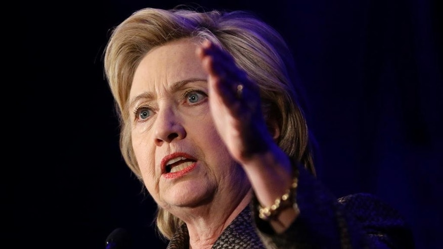 Democratic presidential candidate Hillary Clinton speaks during the 2015 National Immigration Integration Conference in New York, Monday, Dec. 14, 2015. (AP Photo/Seth Wenig)