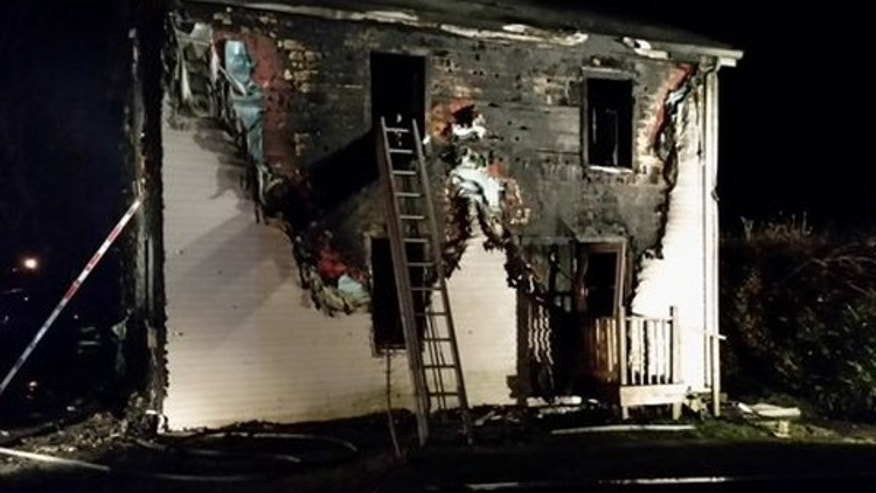 A 4-year-old Massachusetts boy died in a fire on Saturday night.