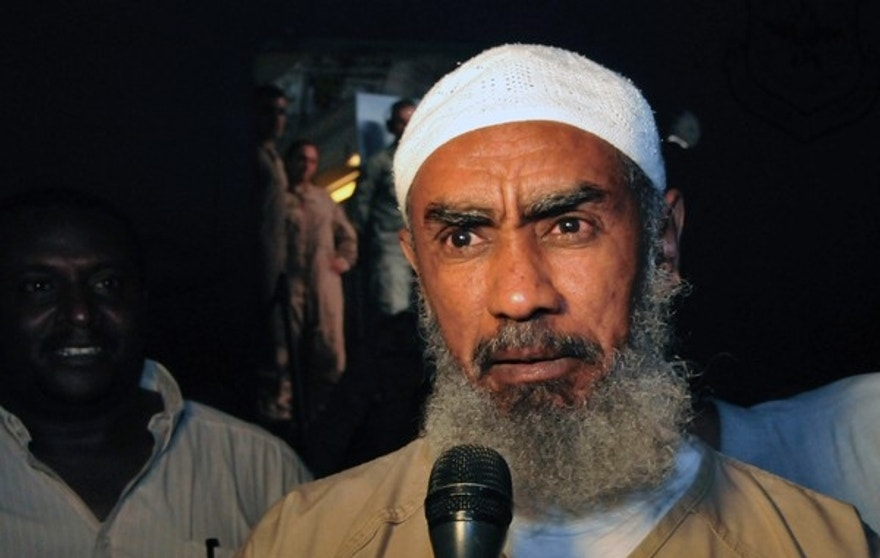 July 11, 2012: Ibrahim al Qosi speaks to the media upon his arrival in Khartoum after spending over a decade at Guantanamo Bay prison. It is believed that he currently holds a key position of leadership in Al-Qaida of the Arabian Peninsula. (Reuters)