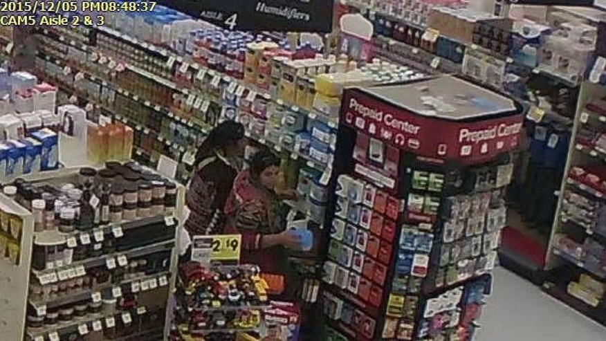 Security footage showing two women allegedly stealing baby formula from a Utah supermarket.