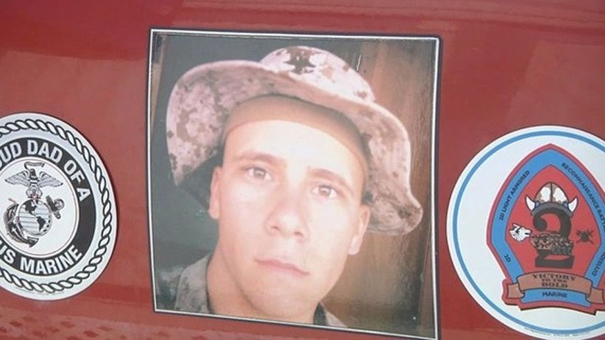 Thieves stole a trailer containing belongings of Scott Dougherty who died fighting in Iraq. (Fox 13)