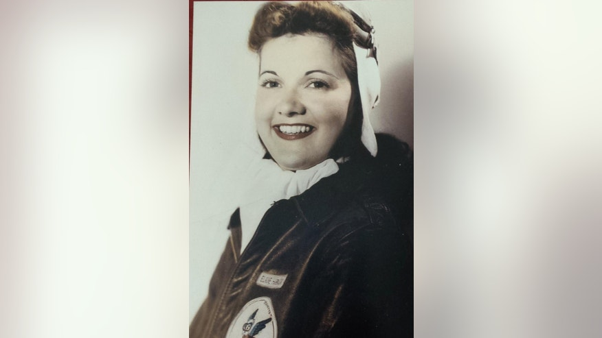 This photo taken in the 1940s, shows Elaine Harmon, one of the Women Airforce Service Pilots (Family photo via AP)