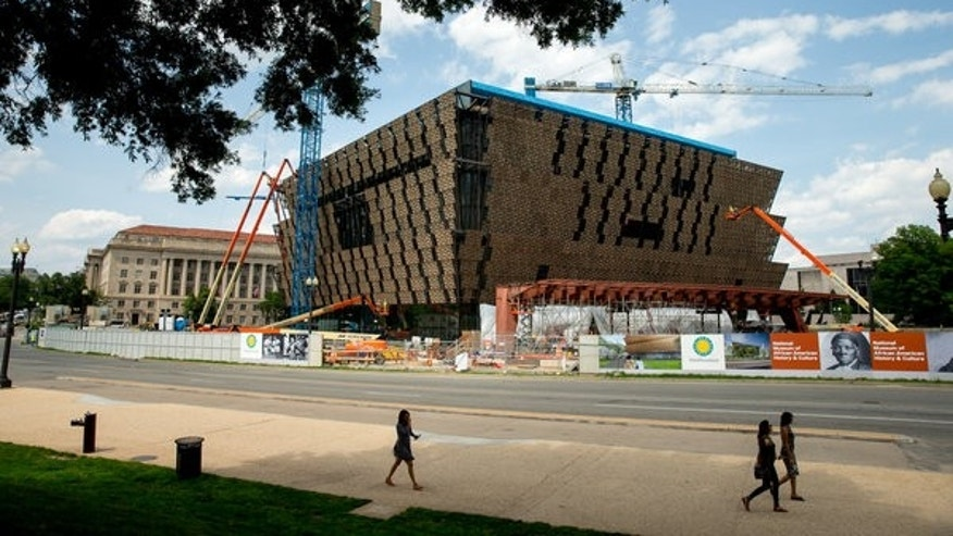 The site of the Smithsonian's National Museum of African American History and Culture.