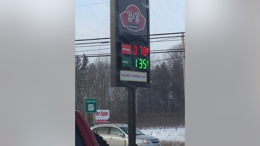 Gas prices fell below $1 at some Michigan gas stations on Sunday.