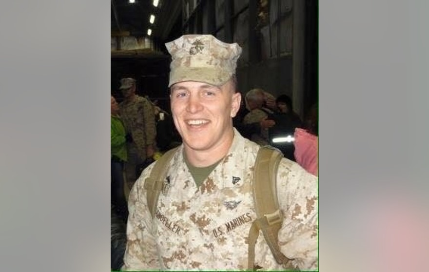 Sgt. Adam C. Schoeller of Gardners, Pa., is seen in an undated photo courtesy the Schoeller family. Schoeller is one of 12 Marines missing after two helicopters crashed off Hawaii. Schoeller's relatives said they are remaining optimistic as the search continues, an effort that has gone on around the clock since the Coast Guard was notified late Thursday of the crash. (Courtesy Schoeller family via AP)