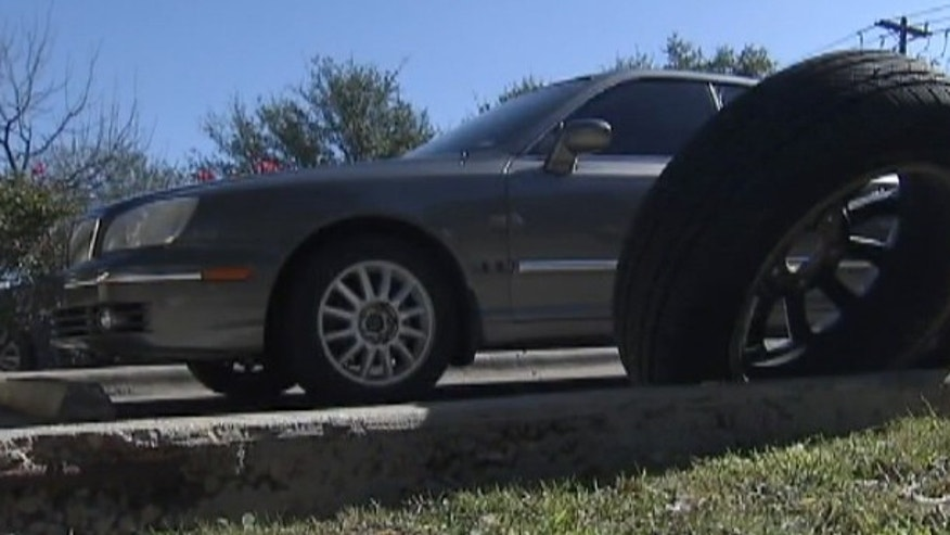 Christopher Brown's car was mistakenly spiked by police trying to stop a vehicle involved in a high-speed chase.