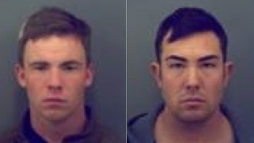 Army soldiers Tyler Shane Hall, (l.), and Eric Duvall, (r.), are facing murder charges in the death of a 16-year-old. (El Paso County Sheriff's Office)