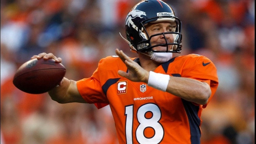 Gang association? In one Colorado district, Peyton Manning's No. 18 is forbidden. (AP)