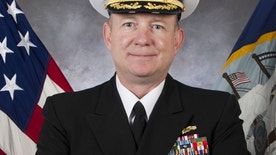 This undated photo provided by the U.S. Navy on Friday, Feb. 5, 2016 shows Capt. Brian Sorenson, the former commanding officer of the USS Anzio. Officials relieved Capt. Brian K. Sorenson of command in September following a preliminary investigation into the misconduct allegations. (U.S. Navy via AP)