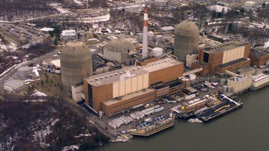 The Indian Point power plant in Westchester County, N.Y. is pictured in 2000. (Ed Bailey/Associated Press)