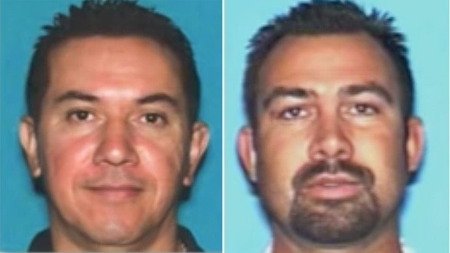 Wilfrido Rodriguez, (l.), and Reuben Gutierrez, (r.), are suspected of using phony credentials and stolen software. (LA County Sheriff)