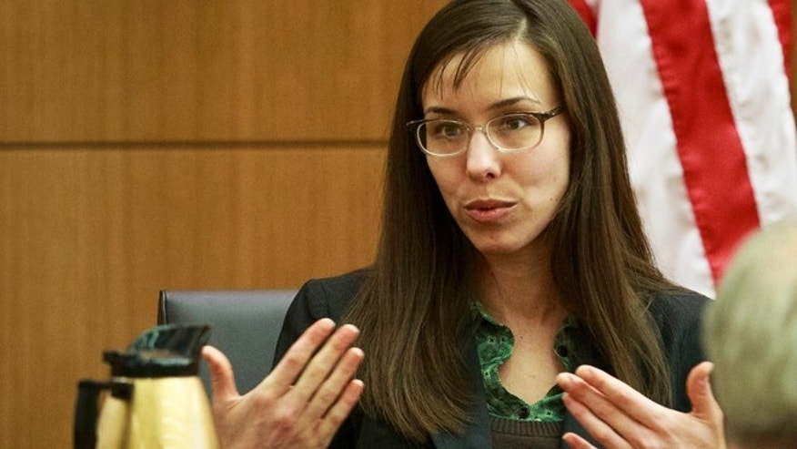 Jodi Arias testifies during her murder trial in 2013.
