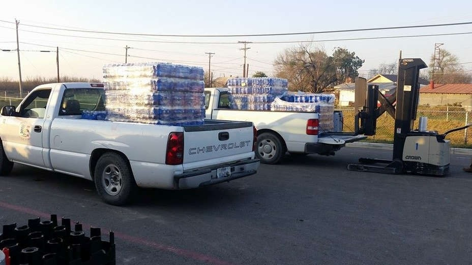 Black water pouring out of Texas town's faucets