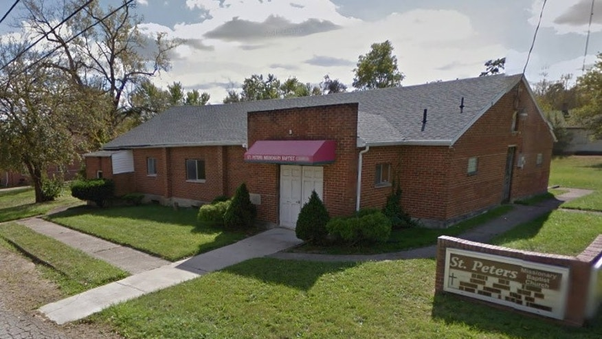 A shooting occurred inside St. Peter's Missionary Baptist Church in Ohio on Sunday.