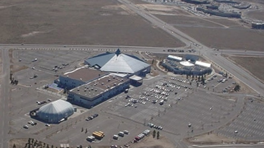 Aerial view of the New Life Church in Colorado Springs.