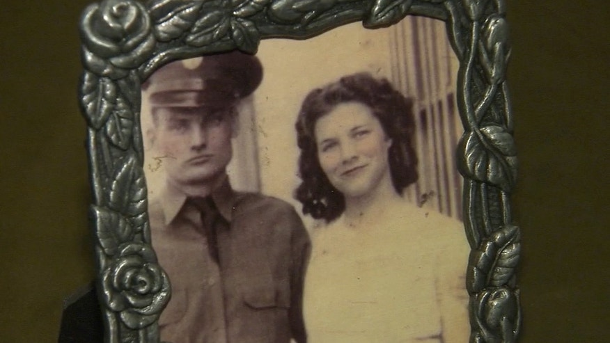 Joseph Stowe, who served in the U.S. Army during World War II, is pictured here with his wife, Bonnie.