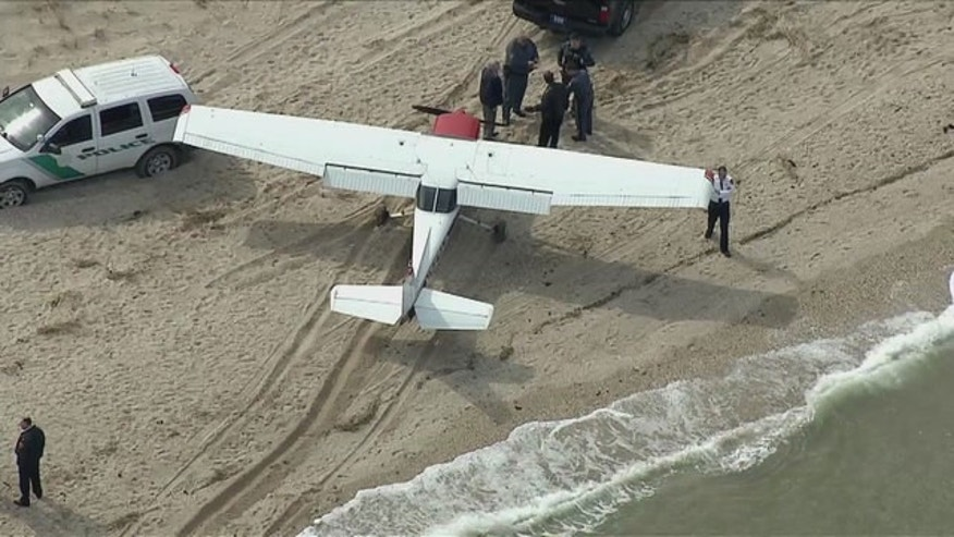 A Cessna 152 plane made an emergency landing at Sunken Meadow Park Friday morning at 11:50 a.m.