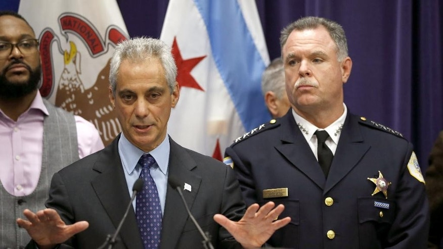 Chicago Mayor Rahm Emanuel, left, and then-Superintendent Garry McCarthy in November.