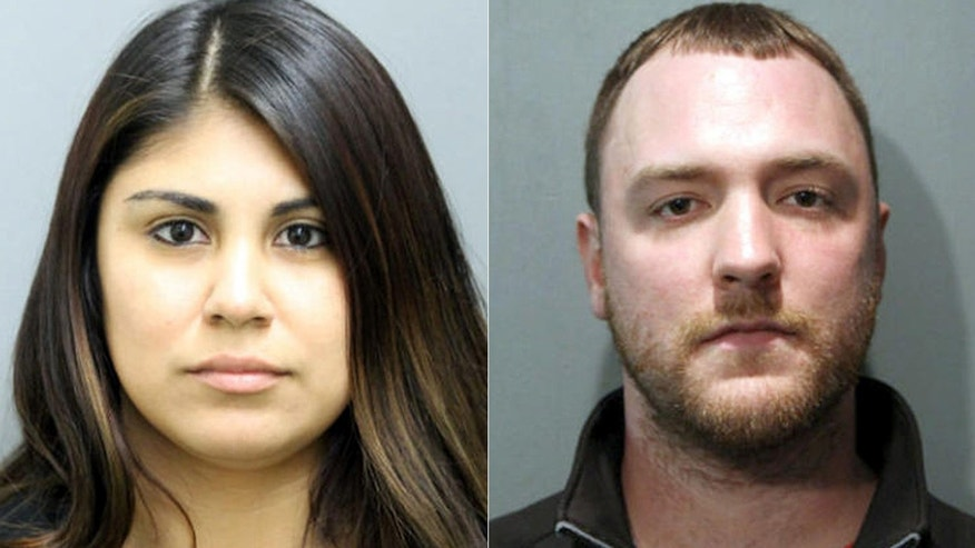 Police photo shows Jessica Soto, left, and Bradley Fichter, right.