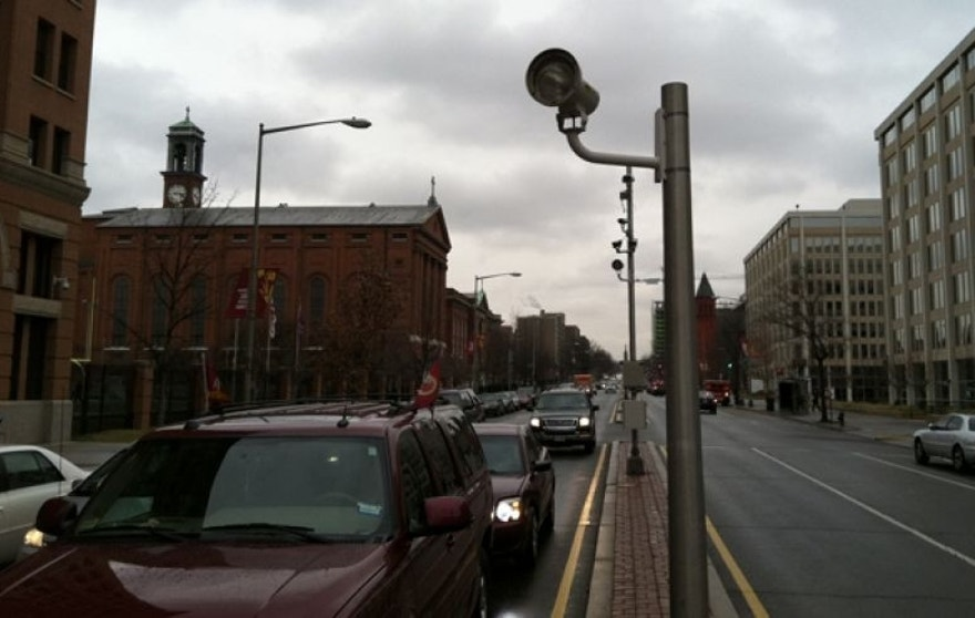 Shown is a red light camera is downtown Washington, taken Feb. 22, 2013.