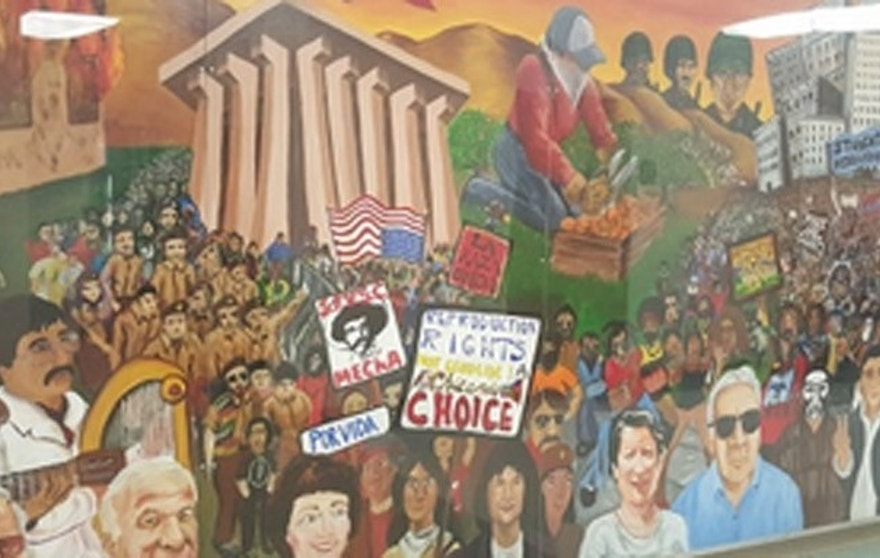 Borderline offensive fanged borderagent art sparks campus for Artist mural contract