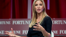 """FILE- In this Oct. 14, 2015, file photo, Ivanka Trump, daughter of Republican presidential candidate Donald Trump, founder and CEO, Ivanka Trump Collection and executive vice president Development and Acquisitions The Trump Organization, speaks at the Fortune Most Powerful Women Summit in Washington. Ivanka Trump-brand scarves are being recalled because they are too flammable and pose a """"burn risk"""" to consumers. The U.S. Consumer Product Safety Commission said Wednesday, April 6, 2016, that no injuries have been reported. (AP Photo/Carolyn Kaster, File)"""