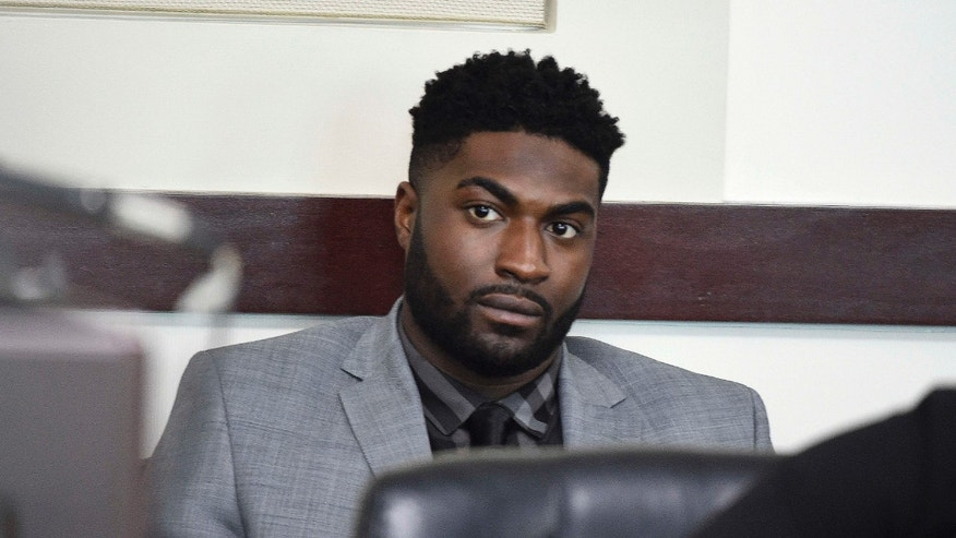April 4, 2016: Former Vanderbilt football player Cory Batey listens during the opening day of his trial in Judge Monte Watkins' courtroom in the A. A. Birch building in Nashville, Tenn..