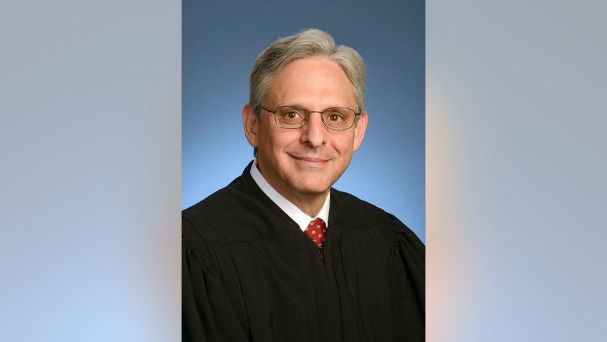 In this photo provided by the U.S. Court of Appeals District of Columbia Circuit, Chief Judge Merrick Garland in 2013, in Washington. Garland, has been characterized as a moderate who, if confirmed, would nudge his divided colleagues slightly to the left because he would replace conservative stalwart Antonin Scalia. (U.S. Court of Appeals District of Columbia Circuit via AP)