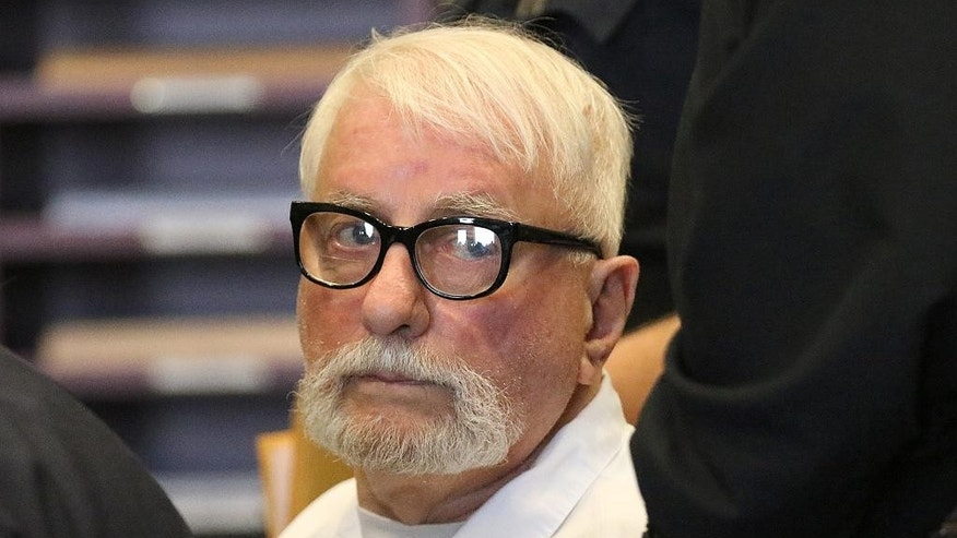 FILE - In this March 29, 2016, file photo, Jack McCullough appears in court for a hearing on his petition for post-conviction relief at the DeKalb County Courthouse in Sycamore, Ill. McCullough, who a prosecutor says was wrongly convicted in the abduction and killing of a 7-year-old Illinois schoolgirl in 1957 will be released from prison, a judge ordered Friday, April 15, 2016. (Danielle Guerra/Daily Chronicle via AP, File) MANDATORY CREDIT, CHICAGO TRIBUNE OUT(/Daily Chronicle via AP) MANDATORY CREDIT; CHICAGO TRIBUNE OUT