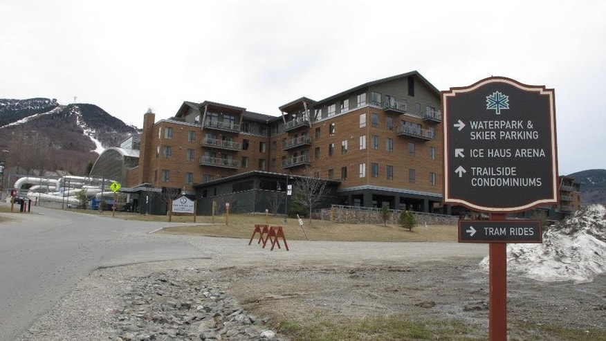 "This April 18, 2016 photo shows Jay Peak Resort. Sweeping plans for development in an economically depressed area of northern Vermont brought the promise of jobs to a region that has some of the highest unemployment rates in the state. But new allegations that Bill Stenger, president of Jay Peak ski resort, and his partner Ariel Quiros, owner of Jay Peak, misused more than $200 million in foreign investors' money ""in Ponzi-like fashion"" has brought some of the development to a halt and left state officials saying they've been betrayed. (AP Photo/Lisa Rathke)"
