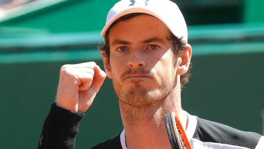 Andy Murray in Monaco on April 15.