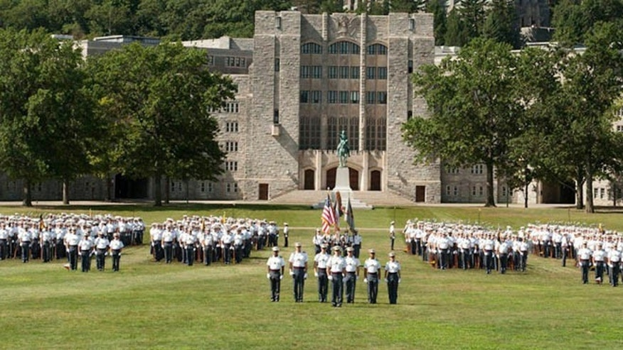 West Point cadets in formation. (U.S. Military Academy)