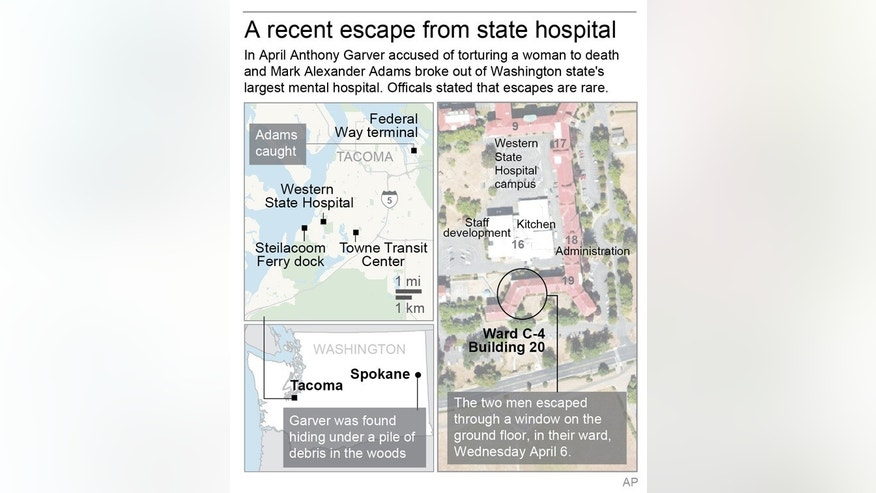 Officials called the escape a rare occurrence and cited only two other escapes in the past seven years.