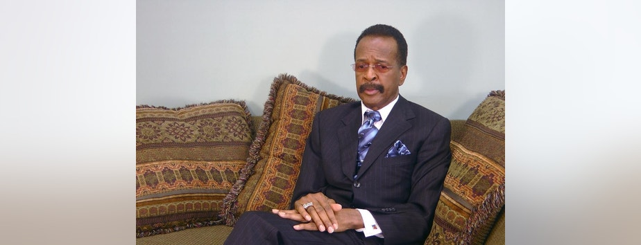 "This image made from a video, former Prince bassist Larry Graham talks about Prince in an Associated Press interview on Monday, May 2, 2016. Graham, a famous bassist and longtime friend of pop megastar Prince says the artist found ""real happiness"" in his faith and could stay up all night talking about the Bible. Graham tells The Associated Press that Prince became a Jehovah's Witness later in life and that it changed the star's music and lifestyle. (AP Photo/Jeff Baenen)"