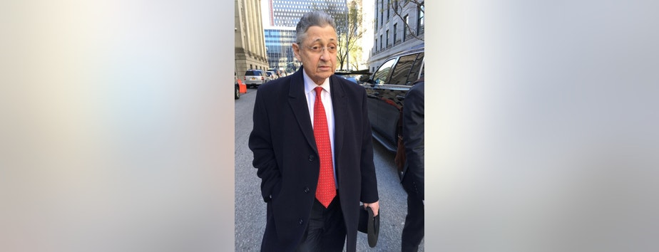 FILE- In this April 14, 2016 file photo, former New York Assembly Speaker Sheldon Silver leaves court in New York. Silver will learn his fate following his November conviction in a $5 million corruption case. Judge Valerie Caproni is scheduled to sentence the Manhattan Democrat on Tuesday, May 3. (AP Photo/Larry Neumeister, File)