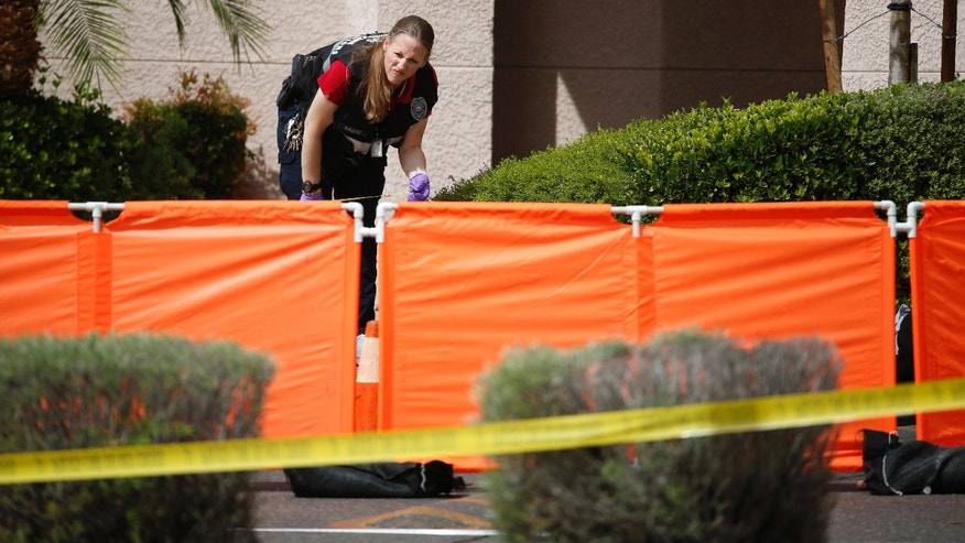 A North Las Vegas investigator at the scene.