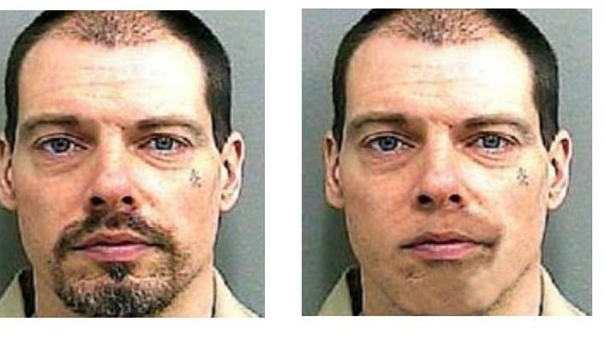 These undated photos provided by Barnegat Police Department shows Arthur Buckel. Corrections officials say the minimum security inmate was missing when guards at Bayside State Prison in the southern New Jersey town of Hammonton performed a count Tuesday, May 3, 2016. (Barnegat Police Department via AP)