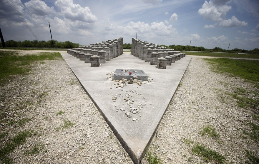 In this June 25, 2014 file photo, the ValuJet Memorial is seen in the Florida Everglades in Everglades National Park in Fla. ValuJet Flight 592 crashed while trying to make an emergency return to Miami on May 11, 1996, killing all 110 people on board. Relatives of the victims of Flight 592 will meet in the Florida Everglades to mark the 20th anniversary of the deaths. (AP Photo/J. Pat Carter, File)